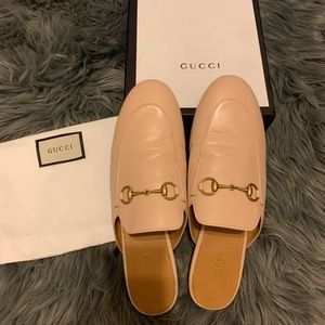 AUTHENTIC Gucci Princetown Leather Mules NWOT